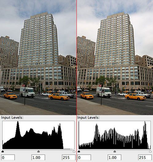Photoshop Autolevels: Before and After